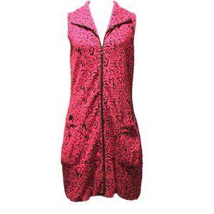Samuel Dong Hot Pink & Black Dress - Small